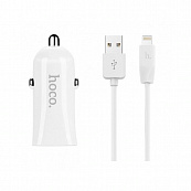 АЗУ Hoco Z2 1USB 1A, USB Cable lightning (Белый)