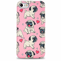 Чехол для iPhone 7/8/SE 2 LUXO (Pug Girl)